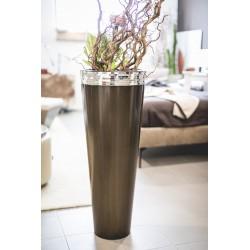 Vaso tondo bronzato
