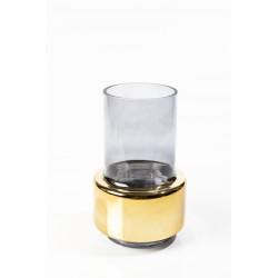 Vase Lobby smoke gold M