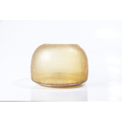 Vaso checkered amber