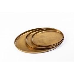 Platter oval antique brass Pols Potten
