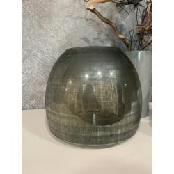 Vase checkered grey S
