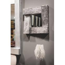 Specchio legno materico